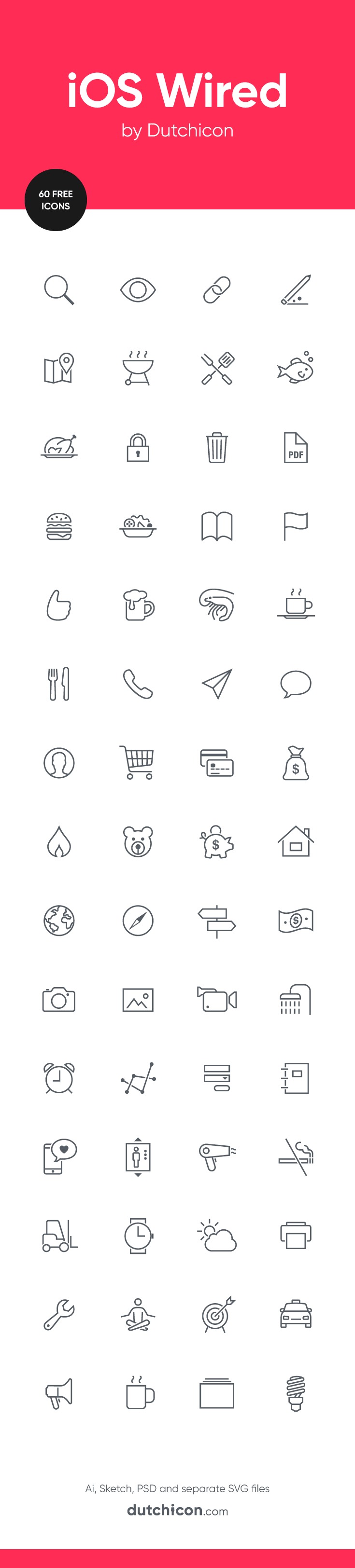60 FREE icons in iOS Wired style available at Dutchicon.com. Direct download: https://dutchicon-store.myshopify.com/cart/31969714898:1?channel=buy_button