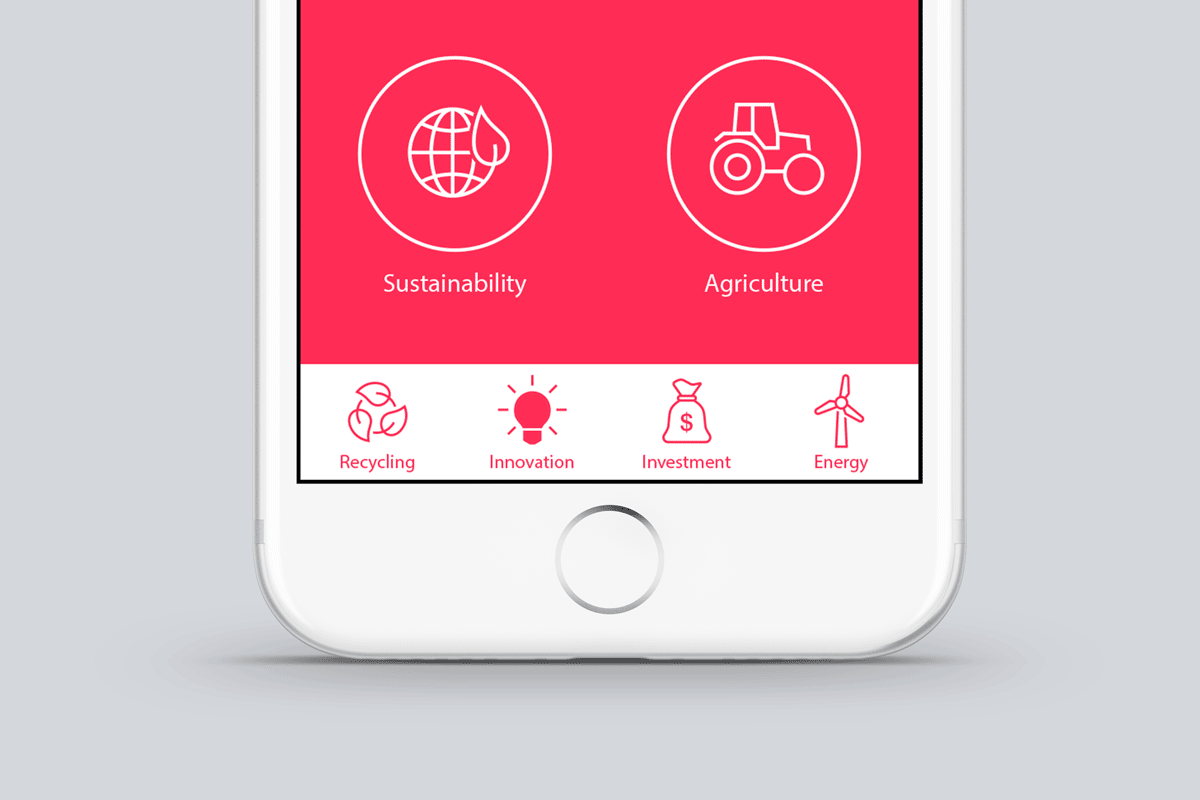 iOS Wired icons Sustainability, Agriculture, Recycling, Innovation, Investment and Energy by #Dutchicon in iPhone app. #icondesign