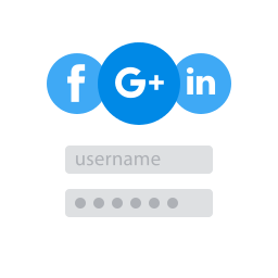 Use your social login from Facebook, Google Plus or LinkedIn. #Dutchicon Unlimited www.dutchicon.com