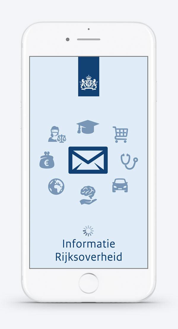Icons in a mobile app by #Dutchicon for the Dutch Government. #icondesign www.dutchicon.com