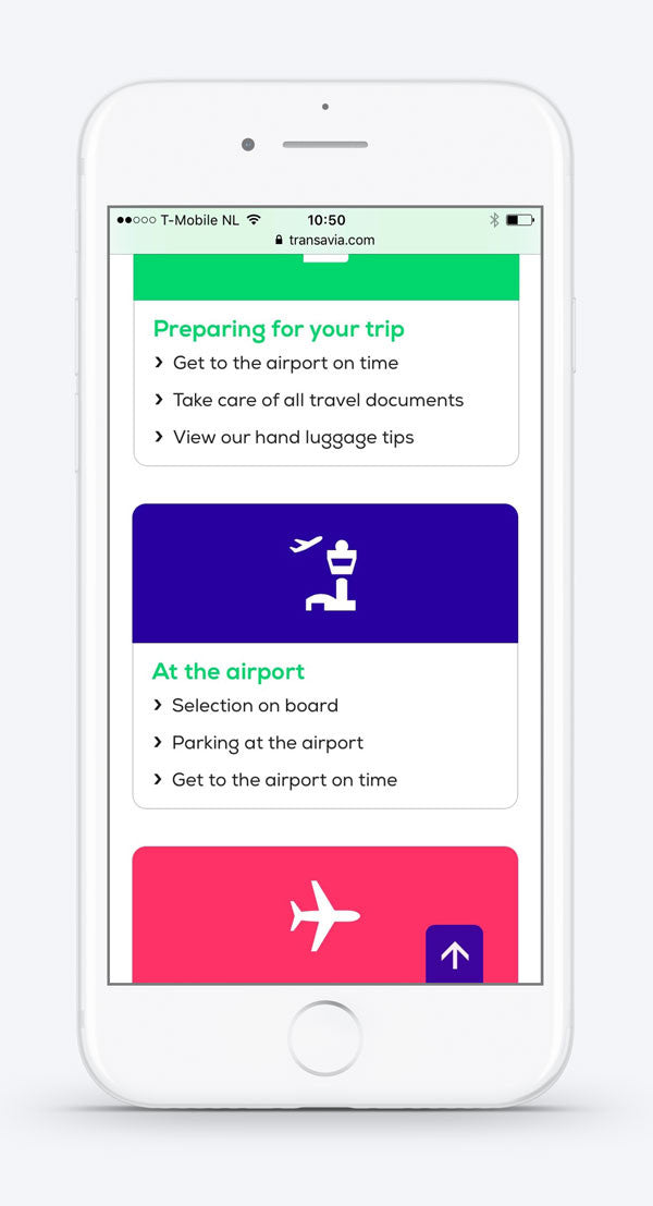 Preparing for your trip with #Transavia on mobile. Custom icons by #Dutchicon. #icondesign www.dutchicon.com