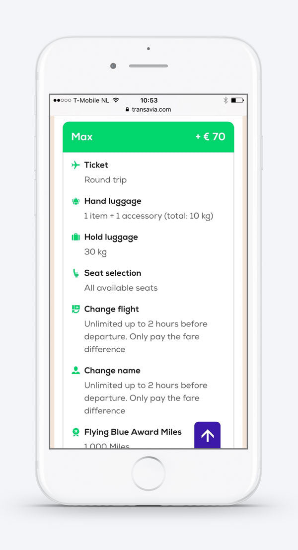 Select your seat with #Transavia on mobile. Custom icons by #Dutchicon. #icondesign www.dutchicon.com