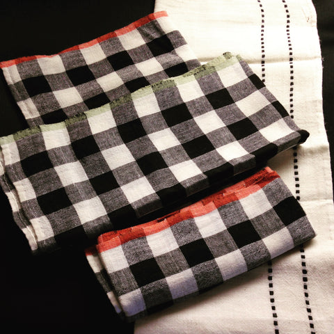 hand woven napkins checkered and classic table linen for all occasions.