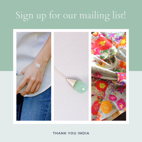 Sign Up for Promotions and Inspirations - Thank You India