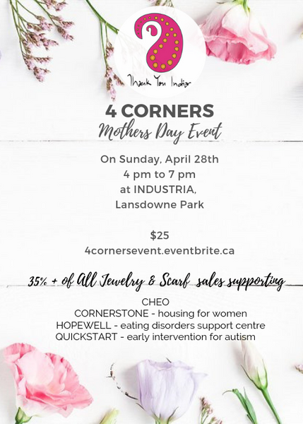 TYI 4 Corners Mother's Day Event April 28th 4-7pm at Industria Lansdowne