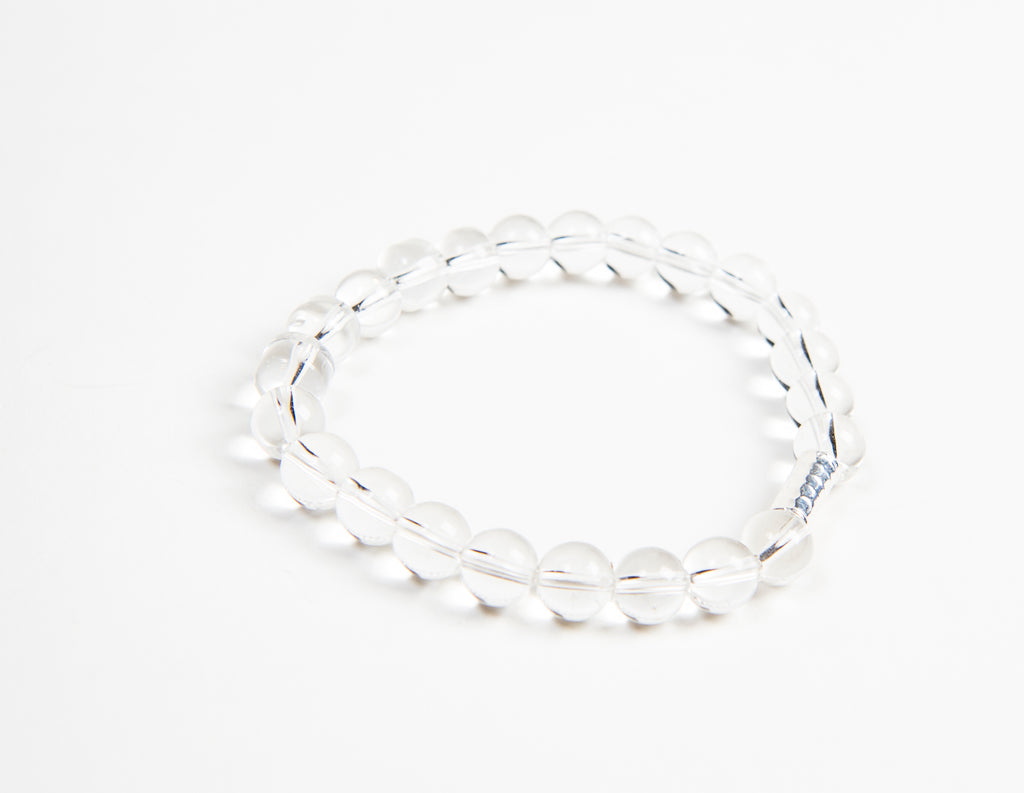 ethically made Stretchy men and women's bracelet made of real crystal beads