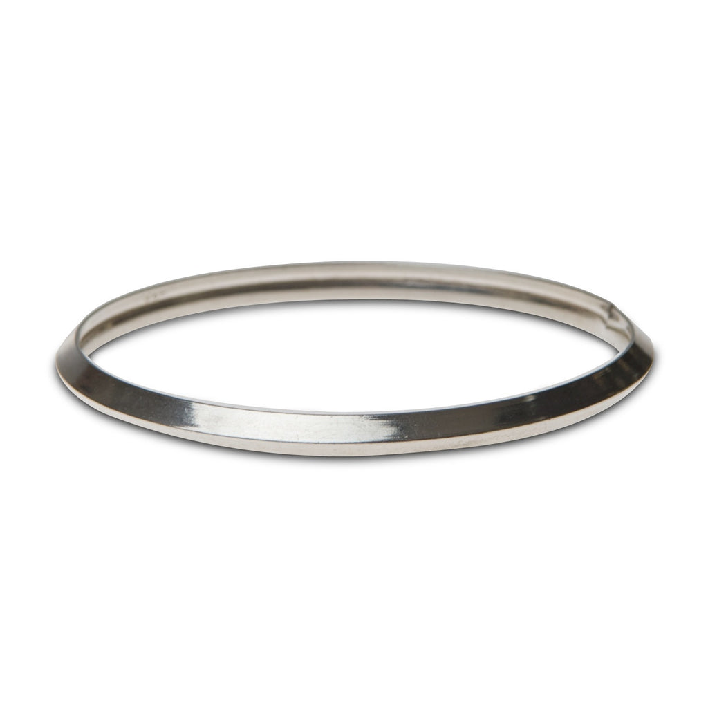 karra bangle, sterling silver, hidden opening