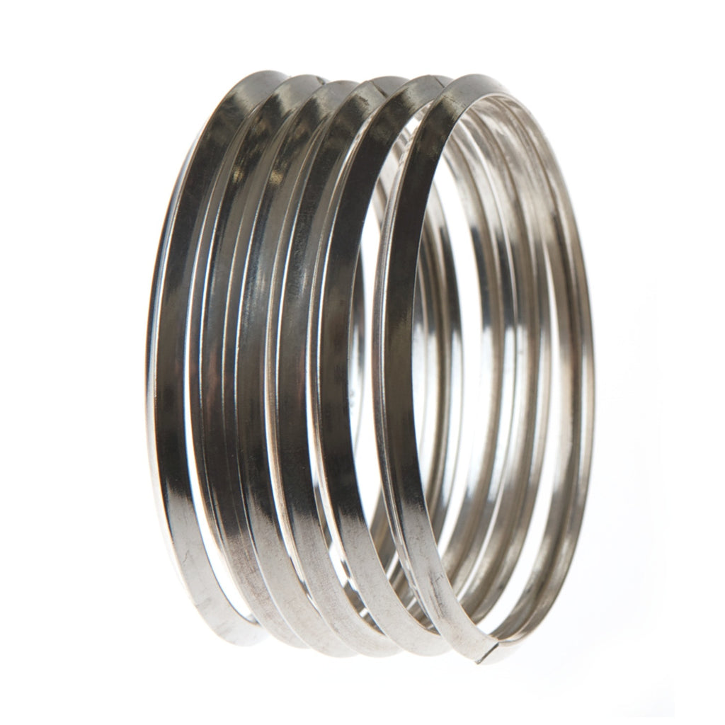 karra bangle group, sterling silver, hidden opening