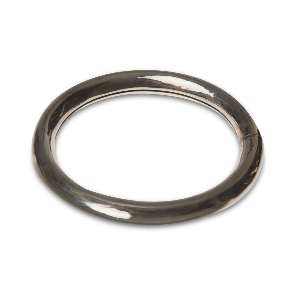 three eighths of an inch thick sterling silver bangle by Thank You India