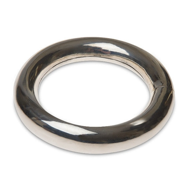 Sterling Silver BANGLE - over half inch THICK