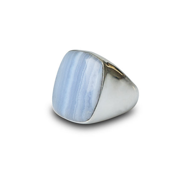 Grey Rutile Sarah Ring - Grey Rutile Stone by Thank You India