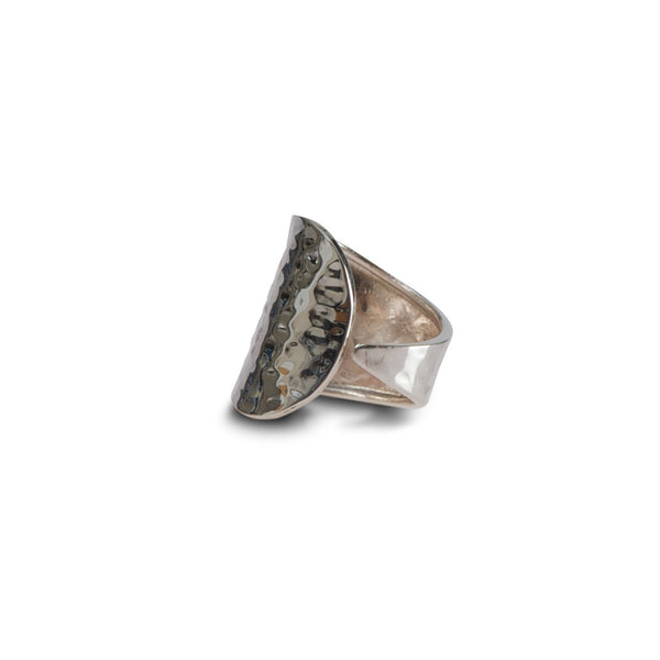 sterling silver hammered wrap ring, adjustable by Thank You India