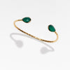Salima gold cuff with green onyx at ends by Thank You India