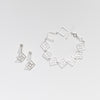 Open square link silver bracelet with earrings for OAG by Thank You India