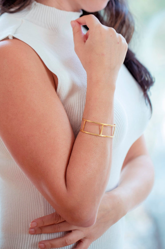 Gold Cuff - multiple band