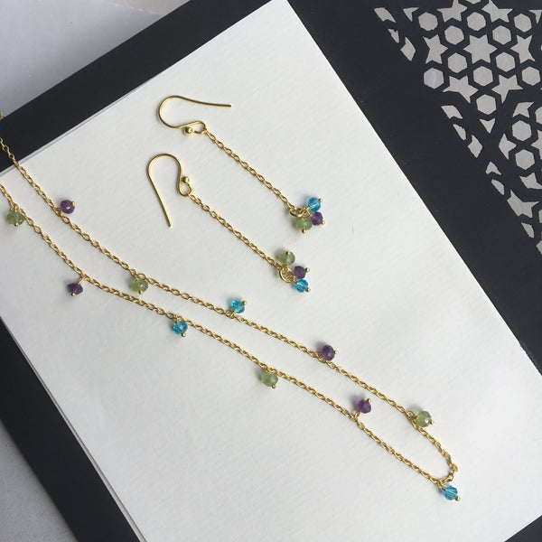 Lina Necklace and Earrings set by Thank You India