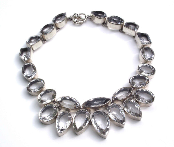 Regal Crystal Quartz Necklace for Rent for Event by Thank You India