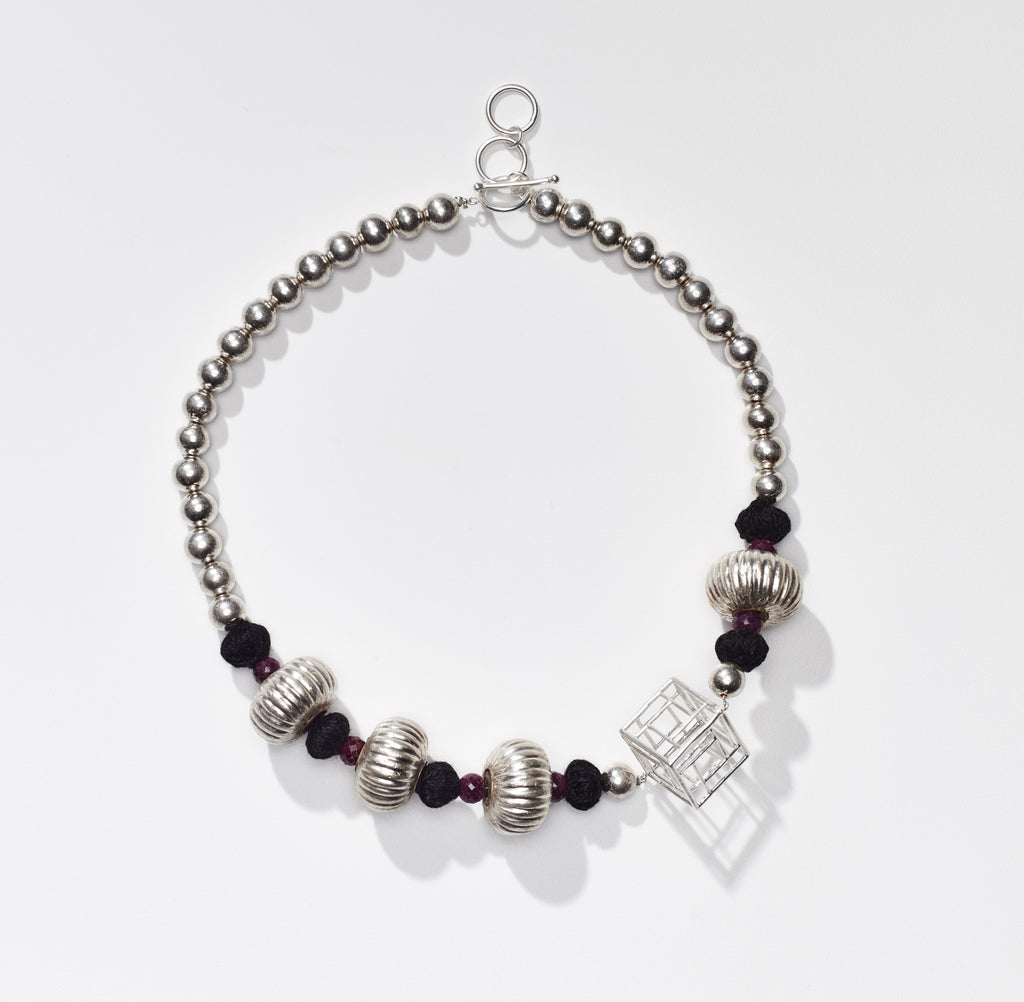 Sally Cube Necklace - OAG Collection by Thank You India