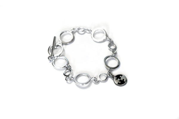 Quickstart Ethical Silver Charm Bracelet in white background by Thank You India