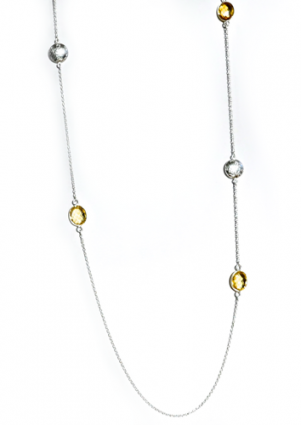 Sophia Strand Beaded Necklace in citrine by Thank You India