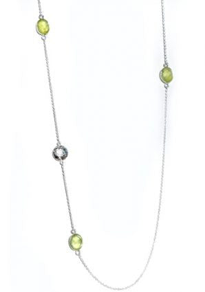 Layered Sophia Strand Beaded Necklace in phrenite by Thank You India
