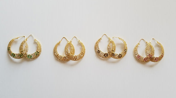 four sets of gold-toned bollywood style earrings by Thank You India