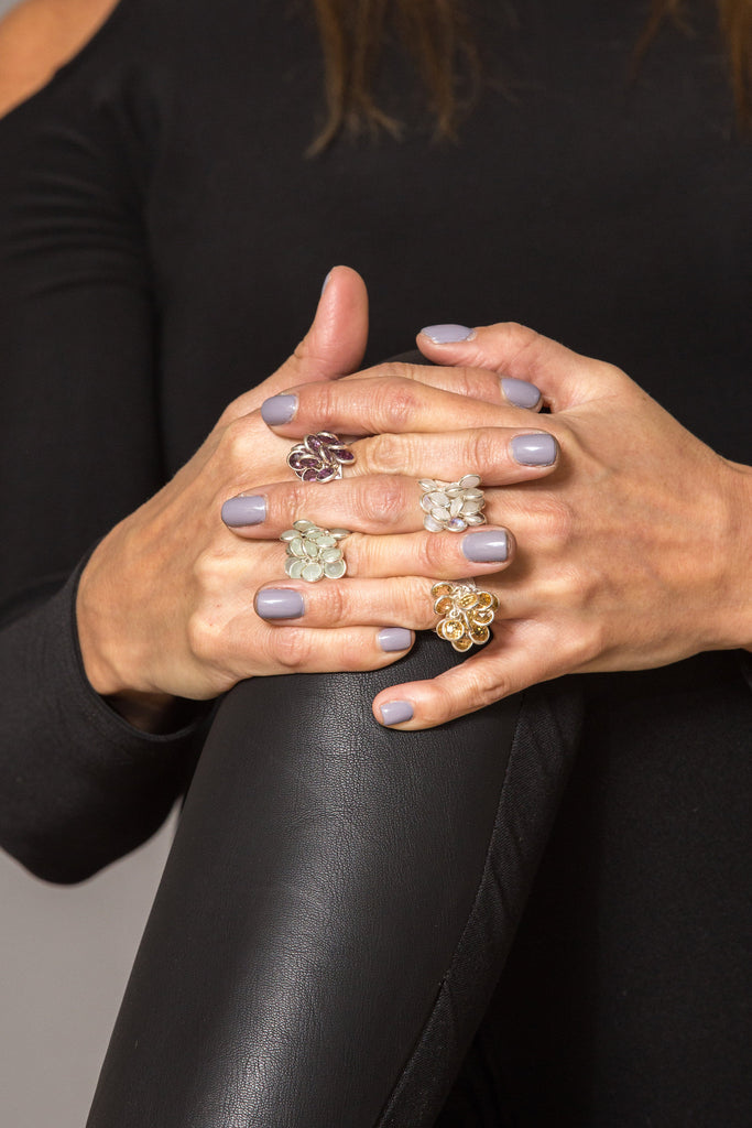 multiple bloom rings styled by Thank You India