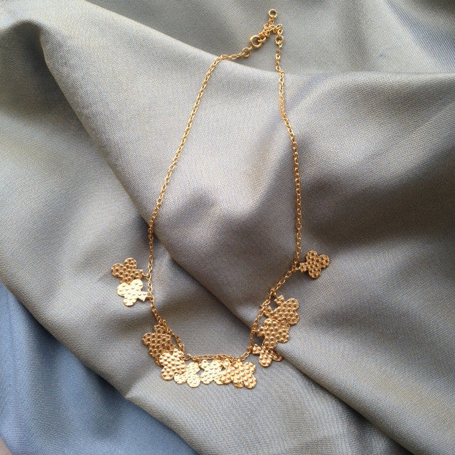 gold clover leaf necklace for TYI