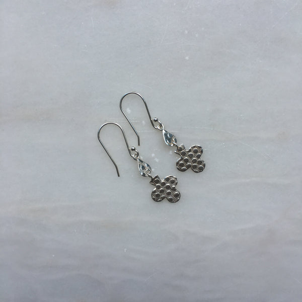 Sterling Silver Clover earrings by Thank You India