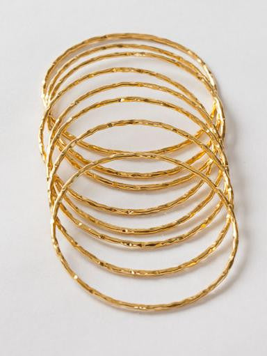 8 intertwined 22k gold on silver bangles from Thank You India