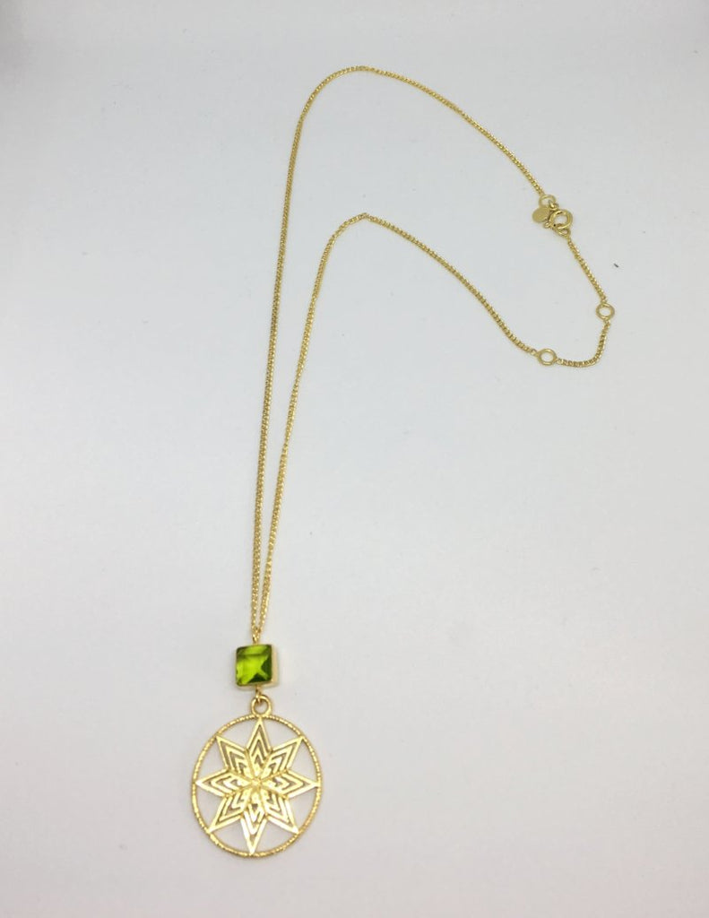 green glass gold plated star necklace thank you india 2018