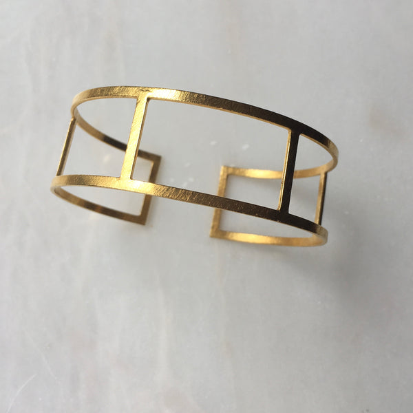 Gold Cuff - Multiple Bands by Thank You India