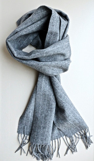 Mens plain light grey scarf by Thank You India