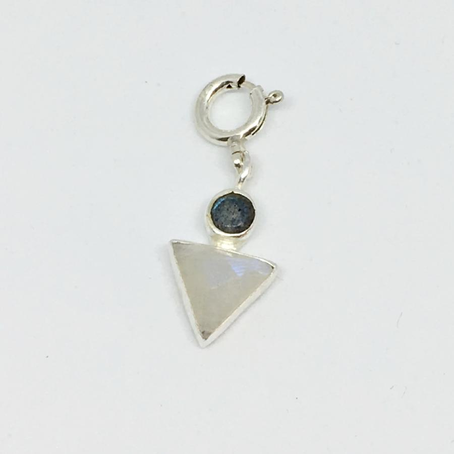 Labradorite & Moonstone sterling silver boy charm thank you india for cheo charity