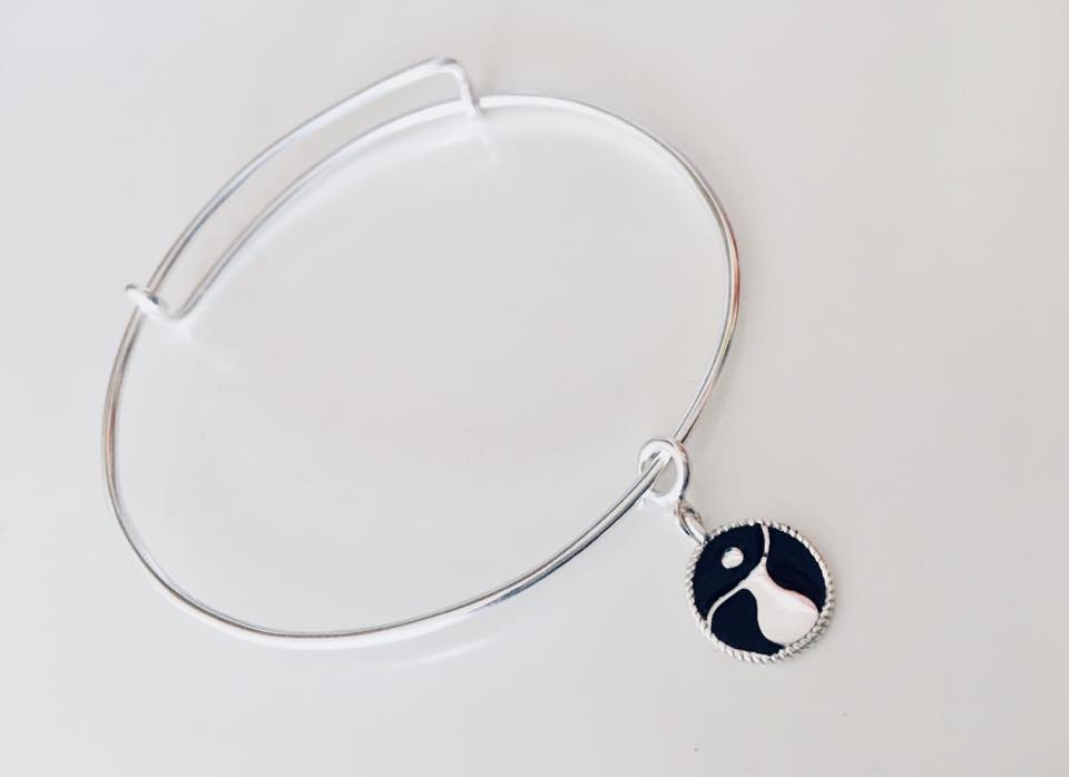 sterling silver adjustable bracelet for charms with women empowerment feminist charm in enamel for international women's day coalition 2018