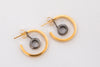 Two Tone Hoop Dual Earrings