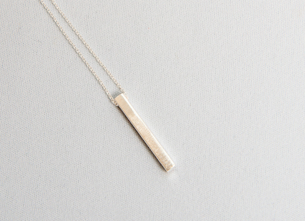 Minimal Bar Necklace - Sterling Silver