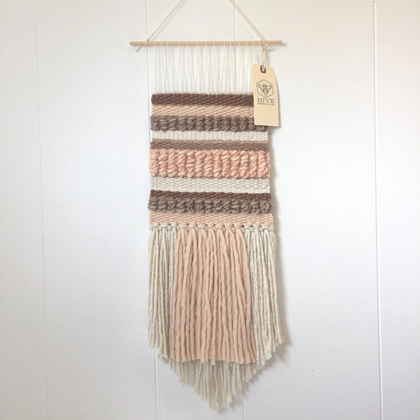 Woven Wall Hanging - Blush and Taupe