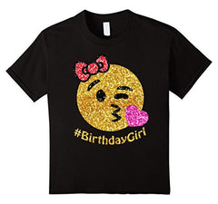 birthday emoji shirt for girls