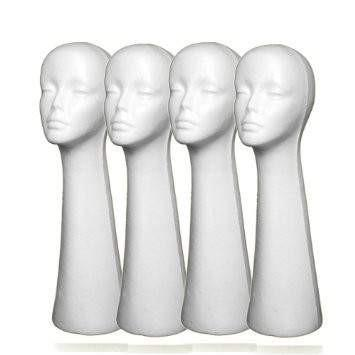 Long Head Styrofoam Mannequin Head,,Perruques RL Moda Wigs Inc..