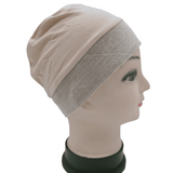 Bamboo Cotton Bonnet with Grip Velvet Band Attached,,Perruques RL Moda Wigs Inc..