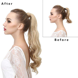 Synthetic Wrap Ponytails Wavy,,Perruques RL Moda Wigs Inc..