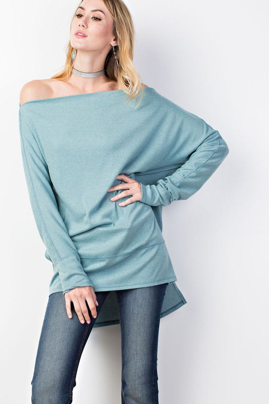 Loose Fit Tunic - Basil - Troovi Finds, Tops, Easel, Troovi Finds