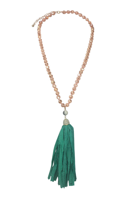 Chunky Tassel Long Necklace