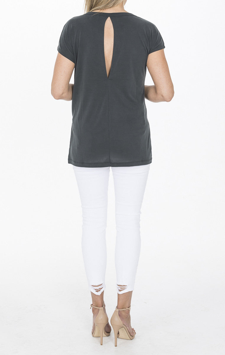 High Low Top - Black - Troovi Finds, Tops, Double Zero, Troovi Finds