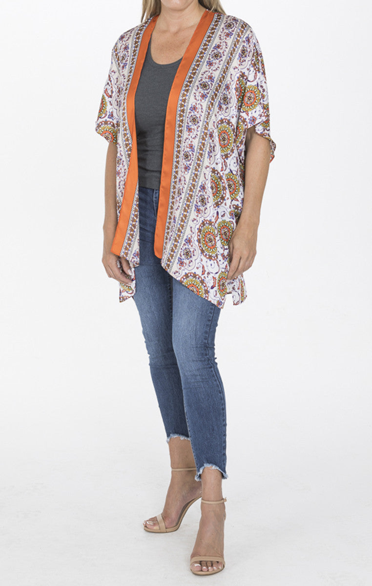 Border Print Kimono - Troovi Finds, Tops, Everly, Troovi Finds