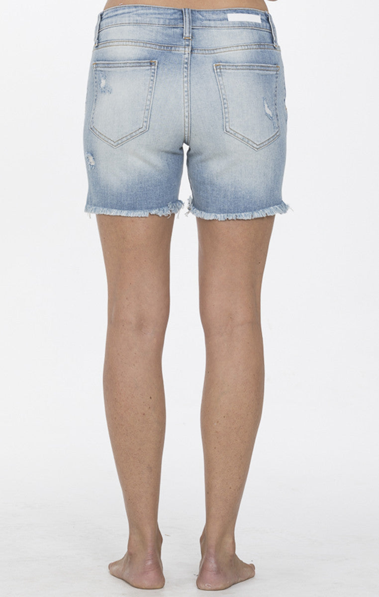 Perfect Denim Distressed High Rise Shorts - Troovi Finds, Bottoms, Cello Jeans, Troovi Finds
