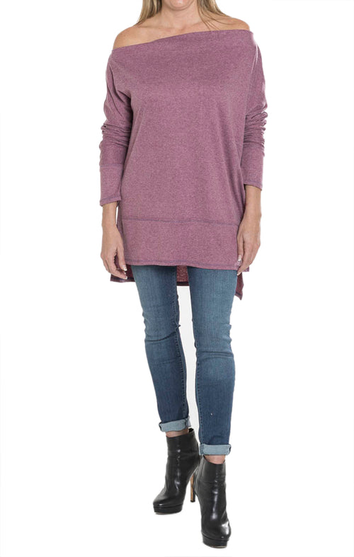 Loose Fit Tunic - Faded Plum