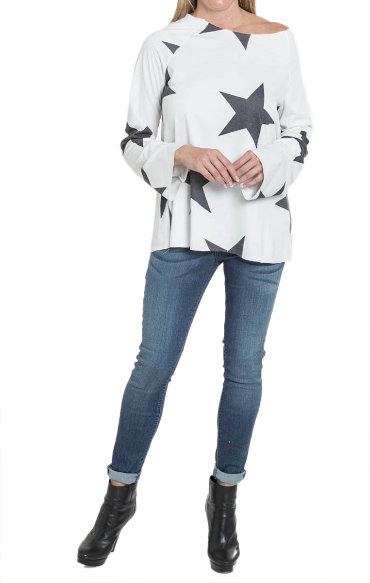Star Bell Sleeve Top - Troovi Finds, Tops, Fantastic Fawn, Troovi Finds