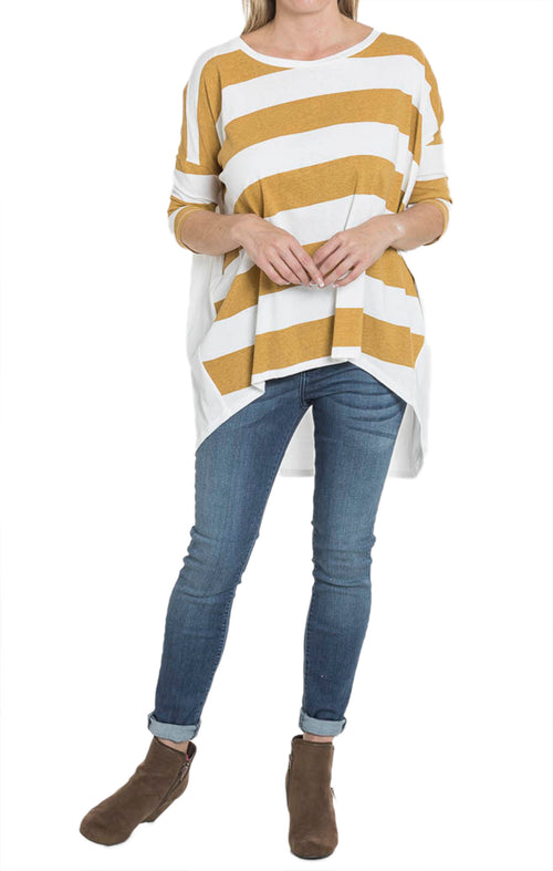 Striped Mustard Top